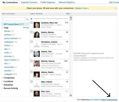 How to export LinkedIn connections to Outlook, Yahoo, mail, etc
