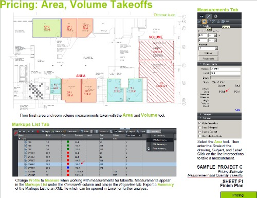 Captivating Estimating Takeoff With BlueBeam PDF Area Volume Awesome Ideas