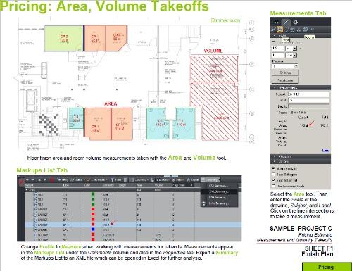 Etonnant Estimating Takeoff With BlueBeam PDF Area Volume