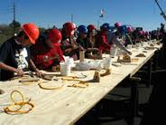 Student Hands-On Activity at Arizona Construction Career Days