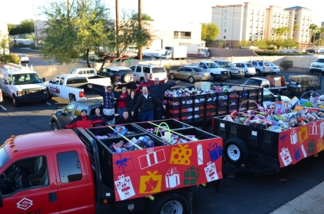 The Arizona construction industry really delivered on the 2012 Toy Drive