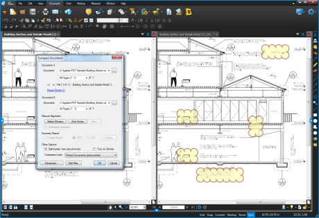 Compare construction plan revisions and changes with Bluebeam