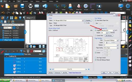 How to only Print Pages with Markups in Bluebeam
