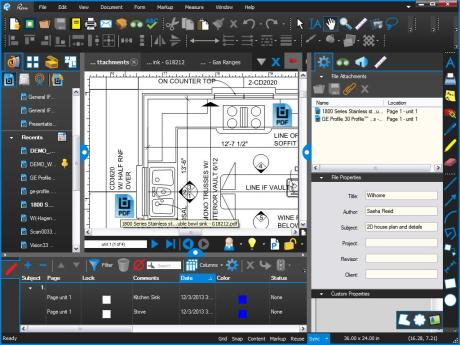 PDFs embedded on Home Plans using Bluebeam Revu