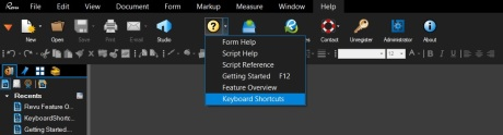 Bluebeam Revu Shortcuts