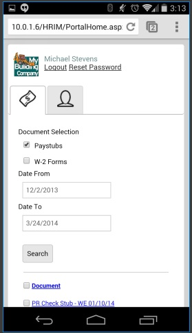 Access the Employee Portal from Android, iPhone or iPad