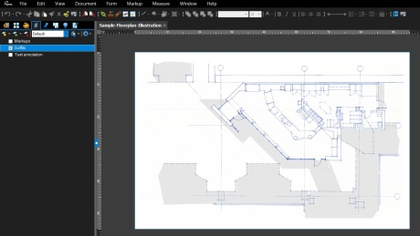 Adding the soffits layer to the sketch in Bluebeam
