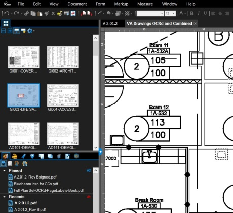 Make your Thumbnails tab appear at the top of a panel in Bluebeam Revu