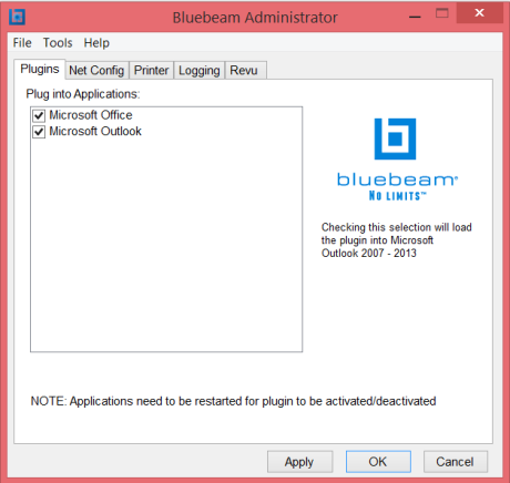 How to install the Bluebeam Outlook PlugIn