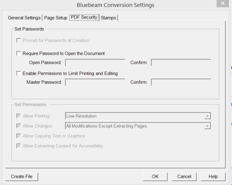 How to change security permissions in Bluebeam converted email