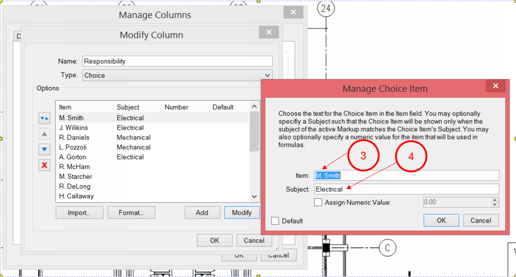 Bluebeam Tip: Adding a Responsibility Column with a Choice