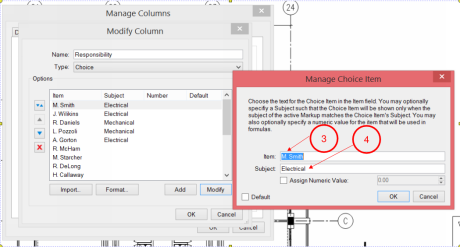 Manage_Choice_Item_for_Responsibility_Column_in_Bluebeam_Revu