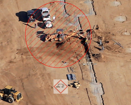 Trench Safety and Job Site Hazards (photo by Sherry Eklund of Desert View Aerial Photography dvaerialphoto.com)