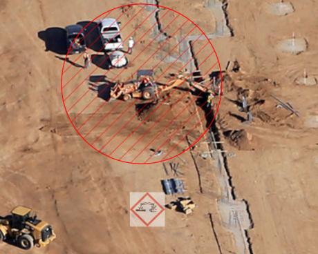 Trench Safety and Job Site Hazards (photo by Sherry Eklund of Desert View Aerial Photography dvaerialphoto.com)